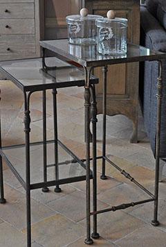 glazen tafeltjes met brass skelet interieurwinkel den haag frederik premier 2