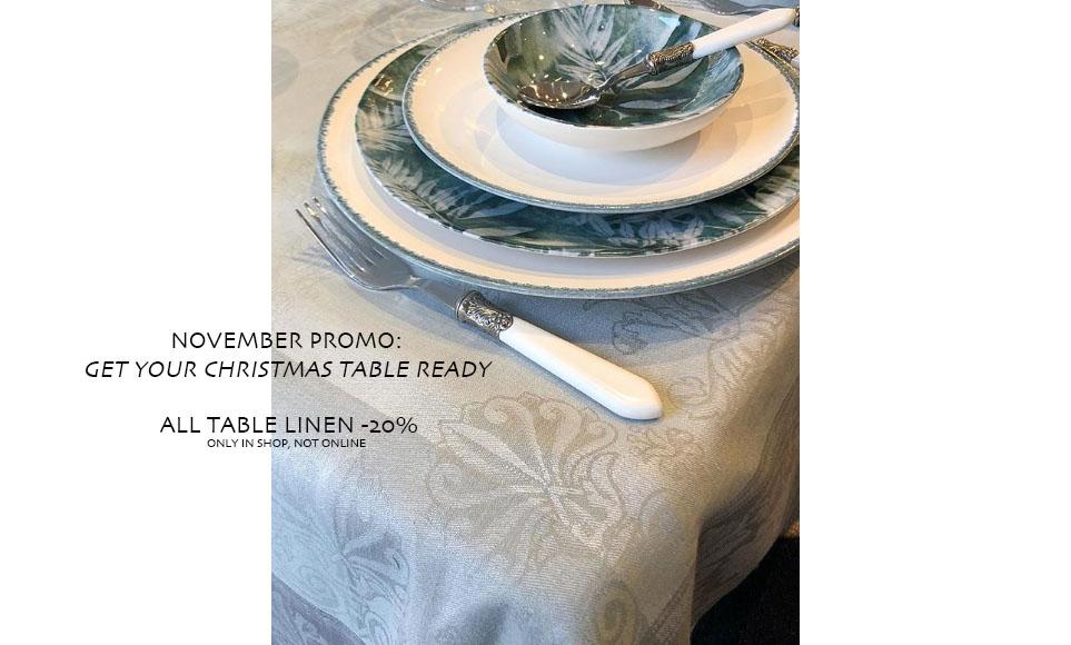 Tafellinnen promotie kersttafel tafelkleden
