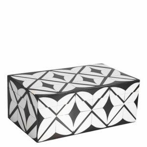 2018 12 Blanc dIvoire zwart wit ruiten doos interieurwinkel Frederik Premier Den Haag