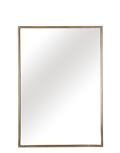 Goud omrande rechthoekige spiegel interieurwinkel Den Haag Frederik Premier