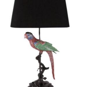 Lamp papegaai interieurwinkel Den Haag Frederik Premier lampenkappen