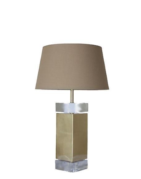 Messing tafellamp glas goud interieurwinkel Den Haag Frederik Premier