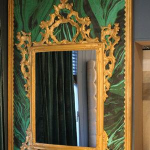 Handmade 2 classic mirror den haag interieurwinkel spiegel malachiet frederik premier