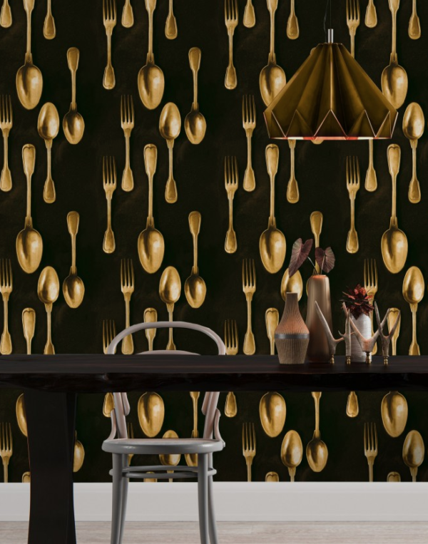 Cutlery brass 01 mind the gap behang den haag frederikpremier interieurwinkel