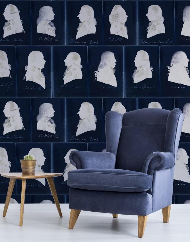 Dutch portraits blue 01 mind the gap behang den haag frederikpremier interieurwinkel