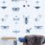 Entomology blue 01 mind the gap behang den haag frederikpremier interieurwinkel