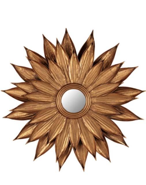 Zonnespiegel goud interieurwinkel denhaag Frederik Premier