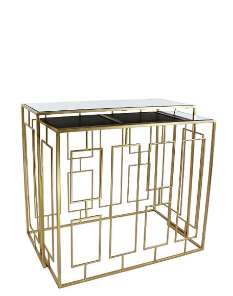 Console side table goud spiegel frederik premier interieur den haag