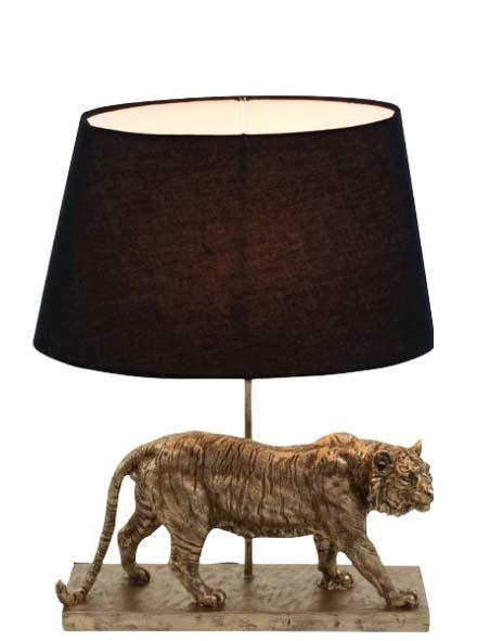 Tiger lampenvoet met standaard lampenkap door frederikpremier interieur den haag
