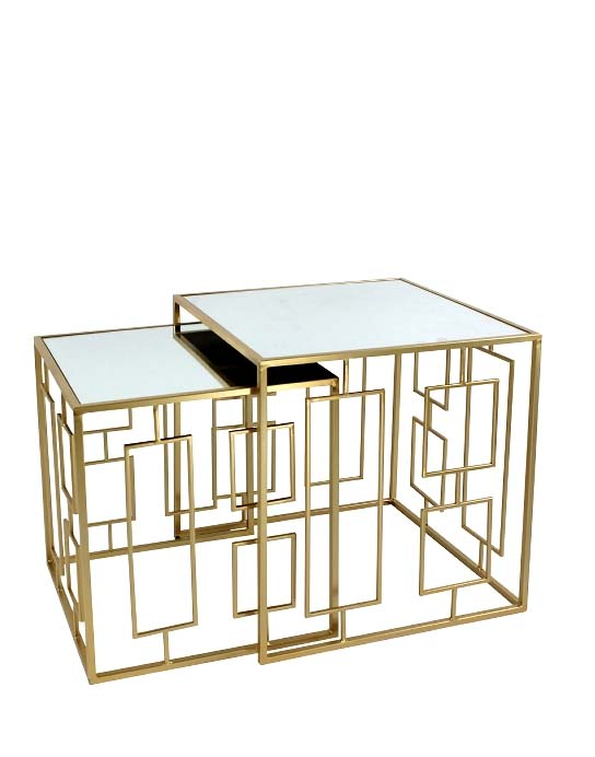 Side table set van 2 spiegel goud Frederik Premier 19122019